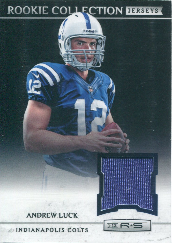 2012 Rookies and Stars Rookie Collection Jerseys #12 Andrew Luck