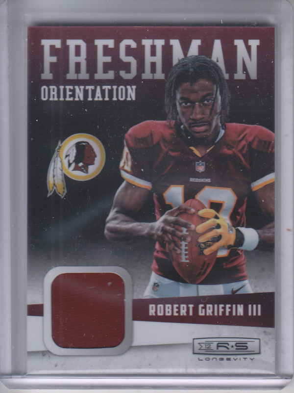 2012 Rookies and Stars Longevity Freshman Orientation Jerseys #33 Robert Griffin III