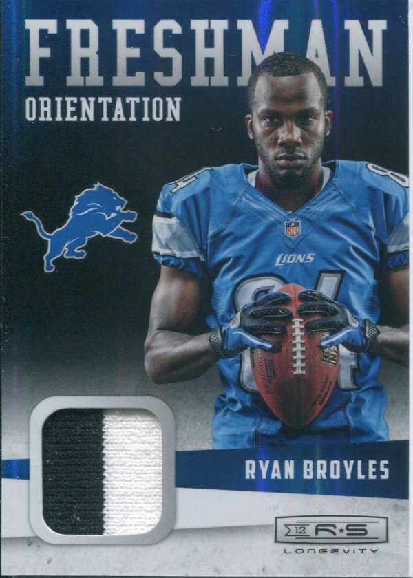 2012 Rookies and Stars Longevity Freshman Orientation Jerseys Prime #3 Ryan Broyles