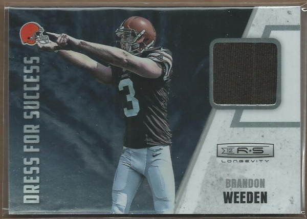 2012 Rookies and Stars Longevity Dress for Success Jerseys #12 Brandon Weeden