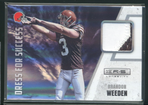 2012 Rookies and Stars Longevity Dress for Success Jerseys Prime #12 Brandon Weeden