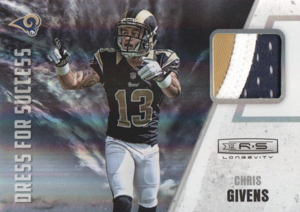 2012 Rookies and Stars Longevity Dress for Success Jerseys Prime #30 Chris Givens