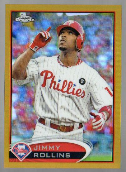 2012 Topps Chrome Gold Refractors #15 Jimmy Rollins