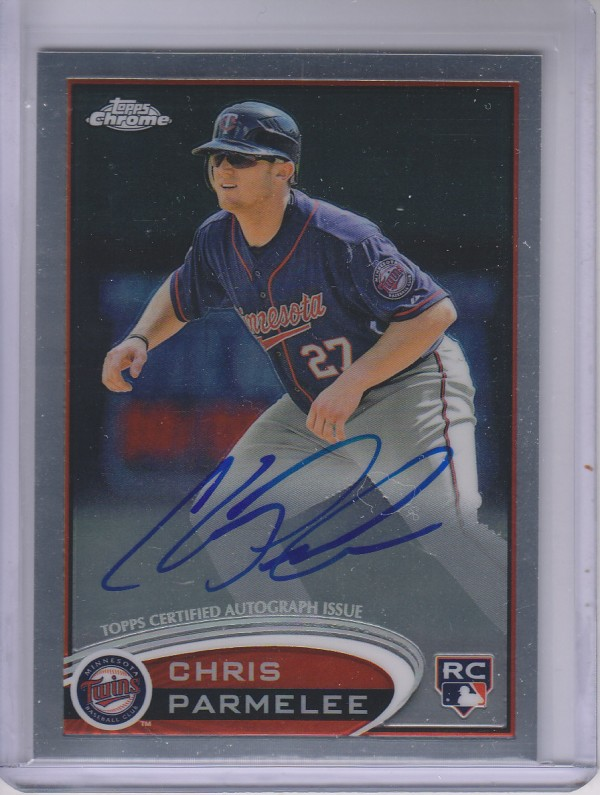 2012 Topps Chrome Rookie Autographs #162 Chris Parmelee