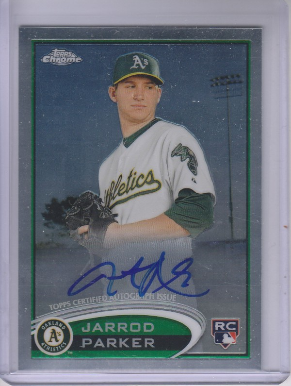 2012 Topps Chrome Rookie Autographs #177 Jarrod Parker