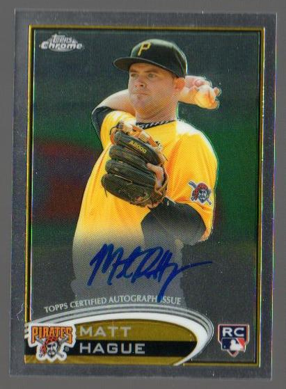 2012 Topps Chrome Rookie Autographs #190 Matt Hague