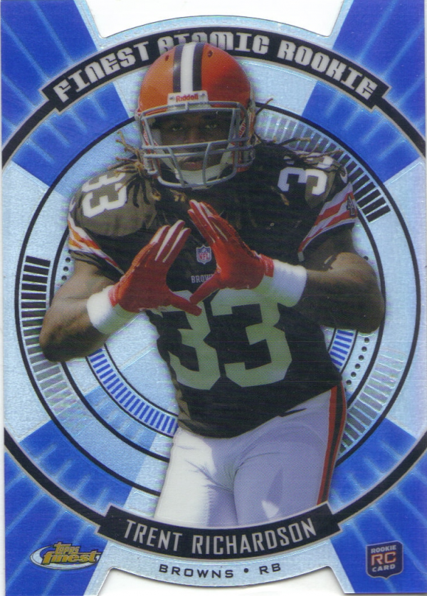 2012 Finest Atomic Refractor Rookies #FARTR Trent Richardson