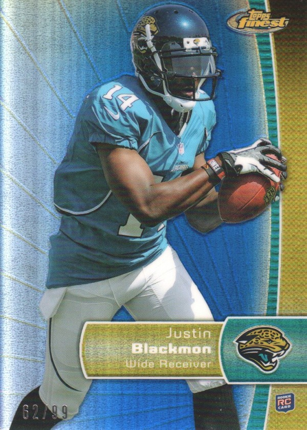 2012 Finest Blue Refractors #130 Justin Blackmon