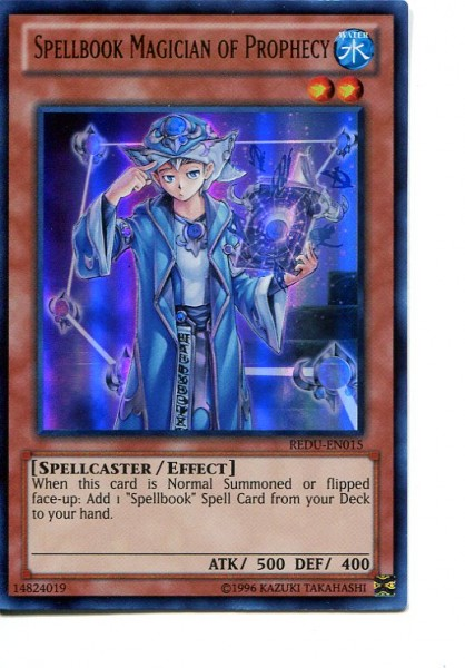 2012 Yu-Gi-Oh Return of the Duelist #REDU015 Spellbook Magician of Prophecy (UR)