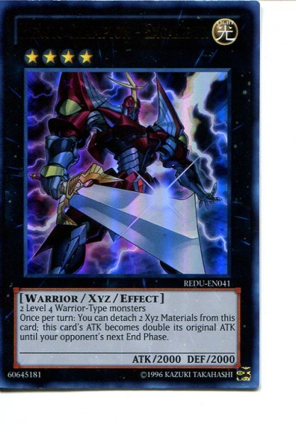 2012 Yu-Gi-Oh Return of the Duelist #REDU041 Heroic Champion - Excalibur (UR)