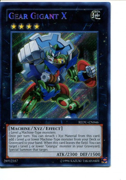 2012 Yu-Gi-Oh Return of the Duelist #REDU046 Gear Gigant X (SCR)