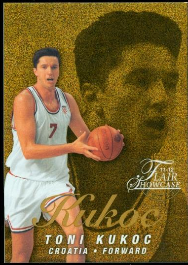 2011-12 Fleer Retro Flair Showcase #37 Toni Kukoc
