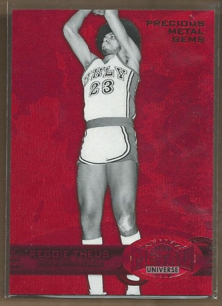 2011-12 Fleer Retro Precious Metal Gems Red #10 Reggie Theus