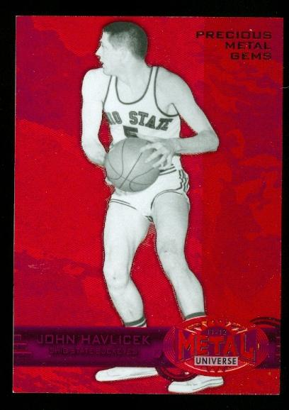 2011-12 Fleer Retro Precious Metal Gems Red #11 John Havlicek