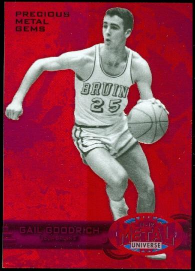2011-12 Fleer Retro Precious Metal Gems Red #13 Gail Goodrich