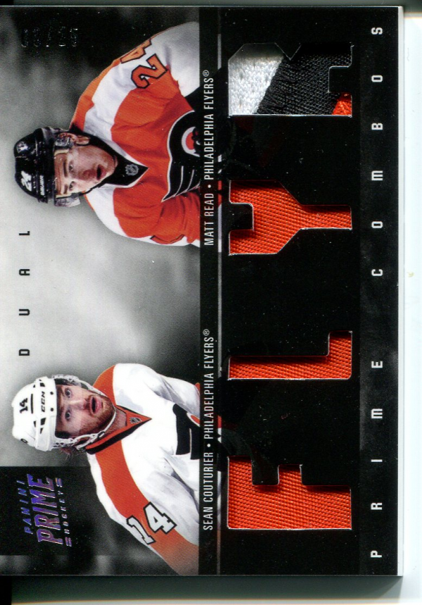 2011-12 Panini Prime Combos Jerseys Patch #10 Matt Read/25/Sean Couturier