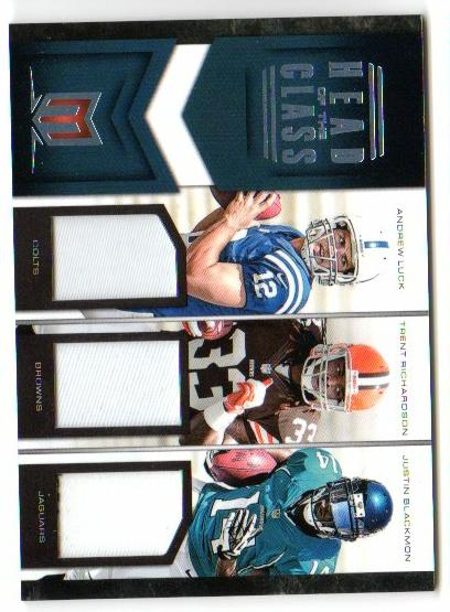 2012 Momentum Head of the Class Materials Triple Prime #3 Andrew Luck/Trent Richardson/Justin Blackmon