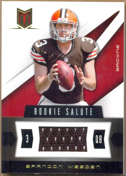 2012 Momentum Rookie Salute Materials #72 Brandon Weeden