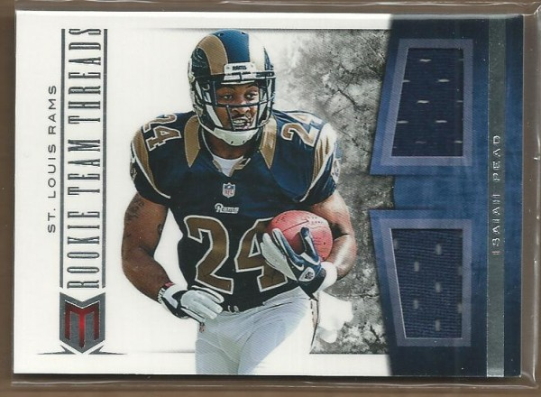 2012 Momentum Rookie Team Threads Dual Materials #19 Isaiah Pead