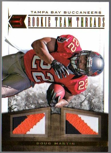 2012 Momentum Rookie Team Threads Dual Materials Prime #10 Doug Martin