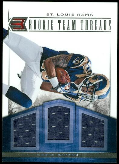 2012 Momentum Rookie Team Threads Triple Materials #20 Chris Givens