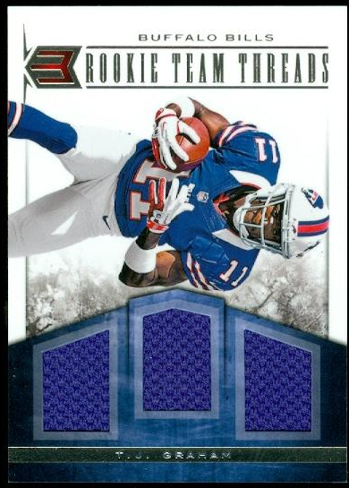 2012 Momentum Rookie Team Threads Triple Materials #34 T.J. Graham