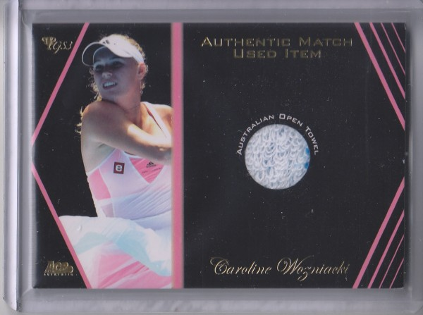 2012 Ace Authentic Grand Slam 3 Match Used Memorabilia #SM8 Caroline Wozniacki