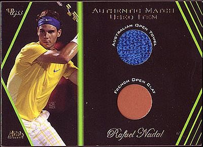 2012 Ace Authentic Grand Slam 3 Match Used Memorabilia Dual #SM2 Rafael Nadal