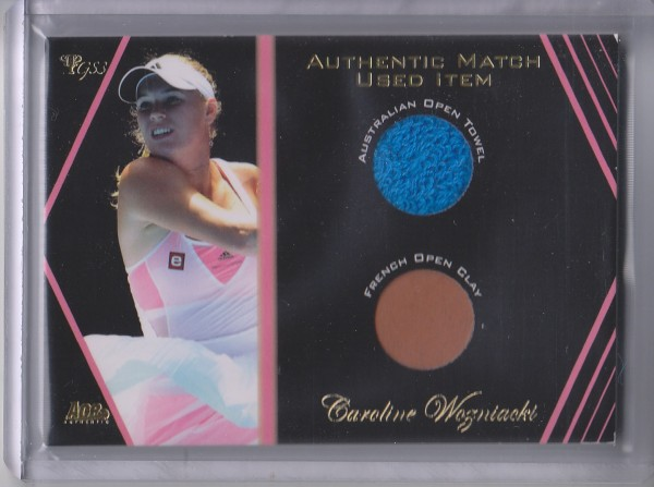 2012 Ace Authentic Grand Slam 3 Match Used Memorabilia Dual #SM8 Caroline Wozniacki