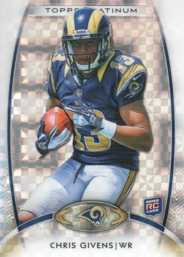 2012 Topps Platinum Xfractors #127 Chris Givens