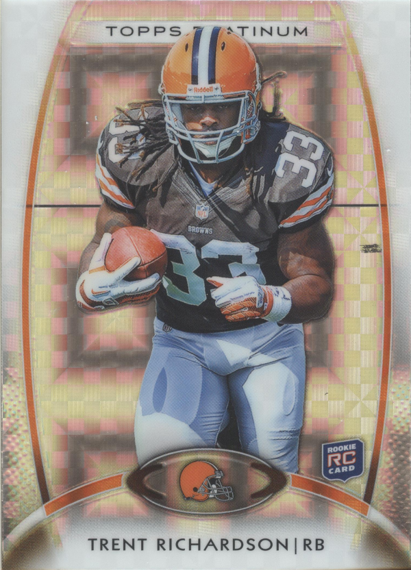 2012 Topps Platinum Xfractors #130 Trent Richardson
