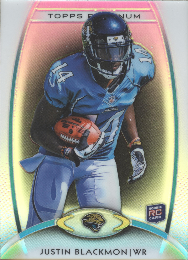 2012 Topps Platinum Black Refractors #140 Justin Blackmon