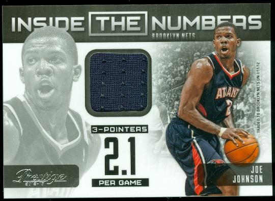 2012-13 Prestige Inside the Numbers Materials #6 Joe Johnson