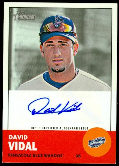2012 Topps Heritage Minors Real One Autographs #DV David Vidal