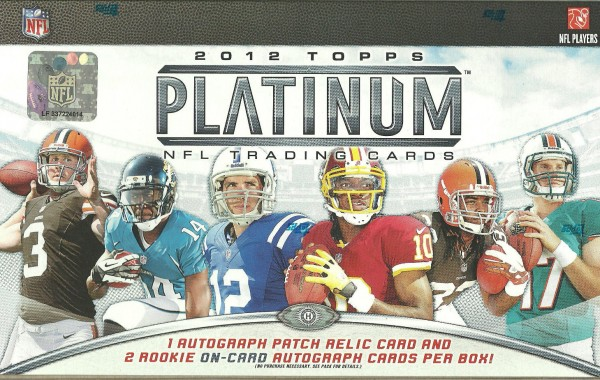 2012 Topps Platinum Football Hobby Box