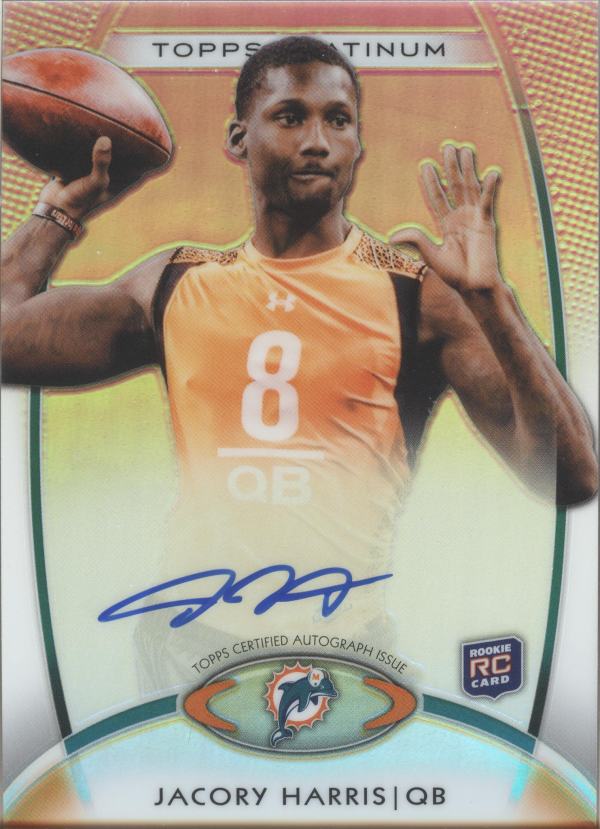 2012 Topps Platinum Rookie Autographs Refractors #161 Jacory Harris