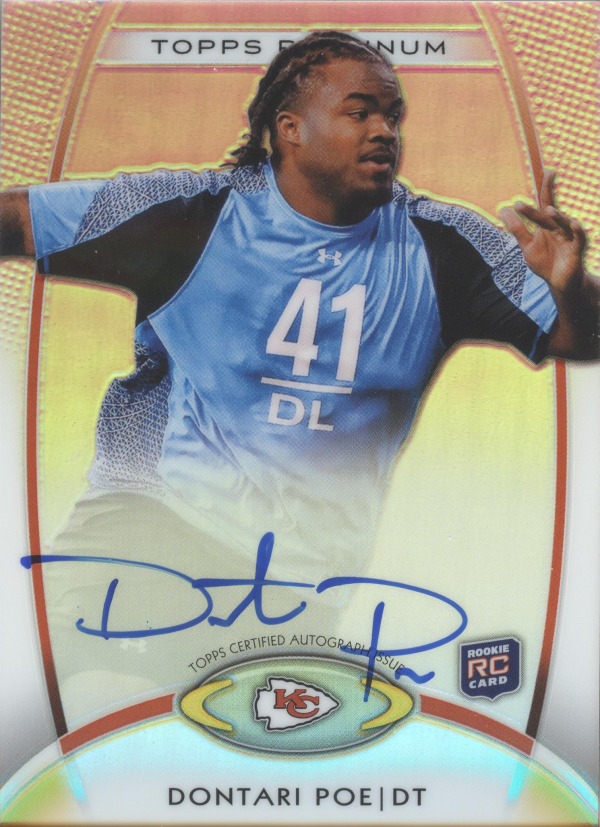 2012 Topps Platinum Rookie Autographs Refractors #163 Dontari Poe