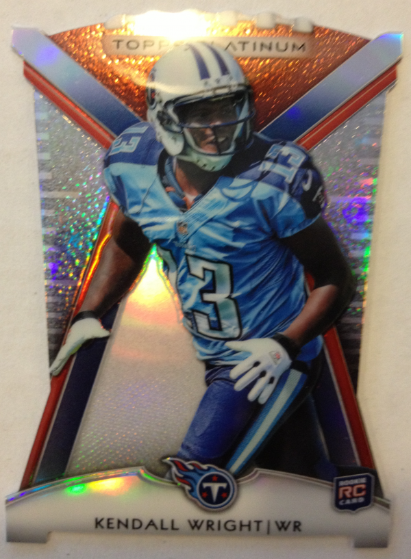 2012 Topps Platinum Rookie Die Cut #PDCKW Kendall Wright