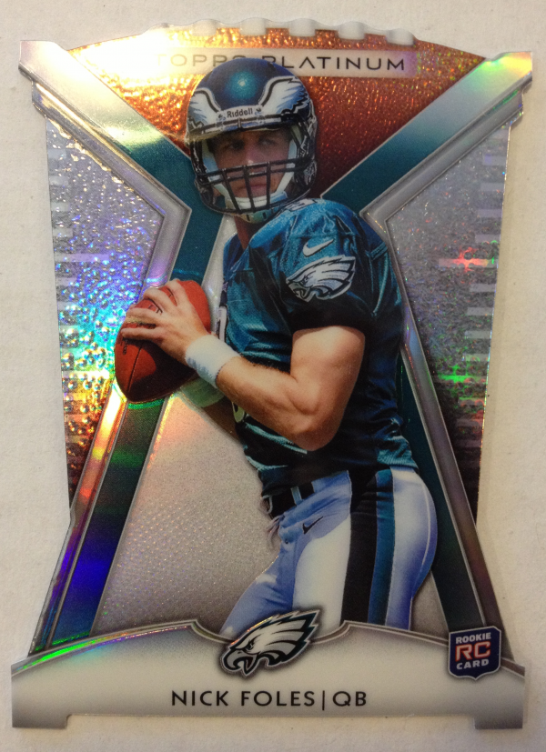 2012 Topps Platinum Rookie Die Cut #PDCNF Nick Foles