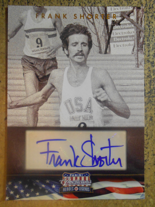 2012 Americana Heroes and Legends Autographs #89 Frank Shorter/299
