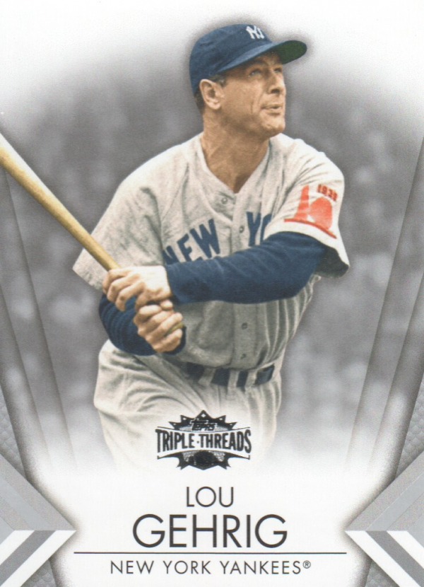 2012 Topps Triple Threads #37 Lou Gehrig