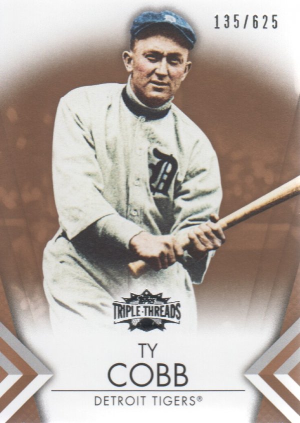 2012 Topps Triple Threads Sepia #47 Ty Cobb