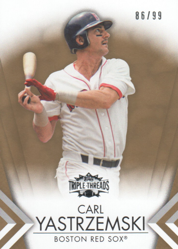 2012 Topps Triple Threads Gold #64 Carl Yastrzemski