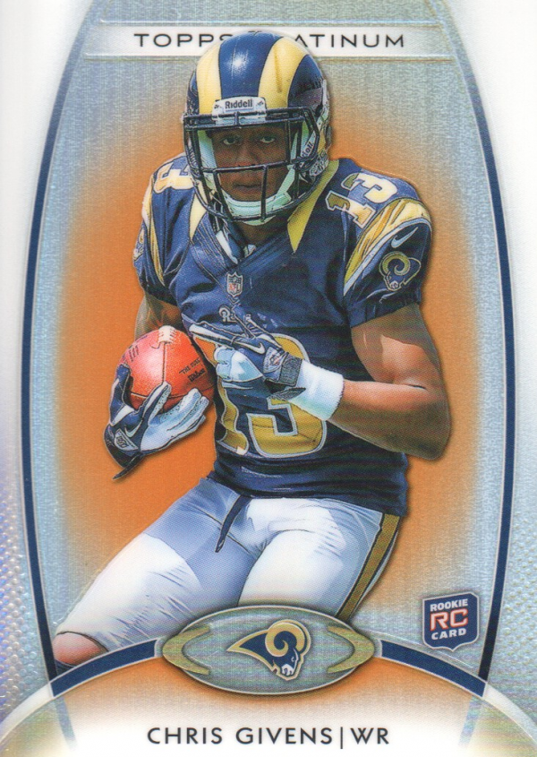 2012 Topps Platinum Orange Refractors #127 Chris Givens