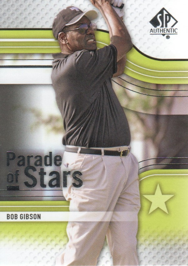 2012 SP Authentic #69 Bob Gibson PS