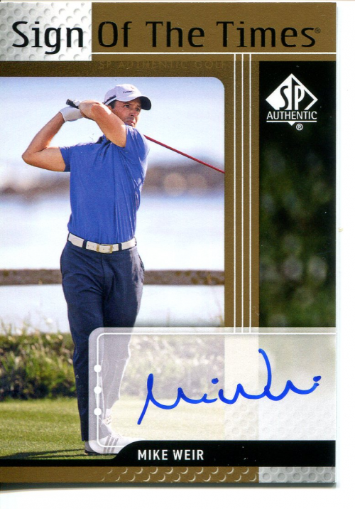 2012 SP Authentic Sign of the Times #STMW Mike Weir F