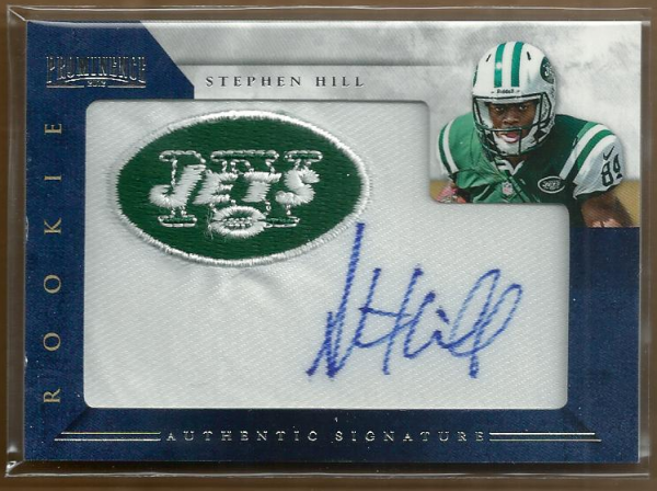 2012 Panini Prominence Rookie Team Logo Autographs #239 Stephen Hill/140