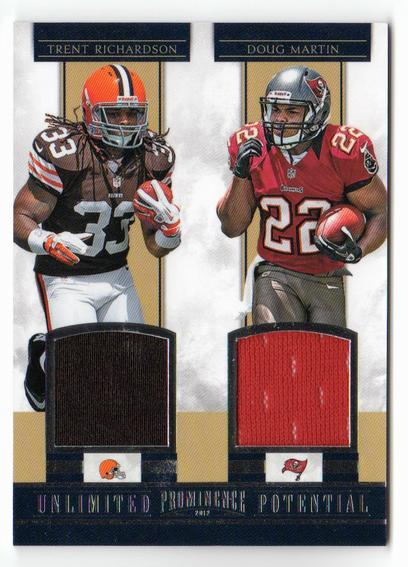 2012 Panini Prominence Unlimited Potential Materials Combos #8 Trent Richardson/Doug Martin