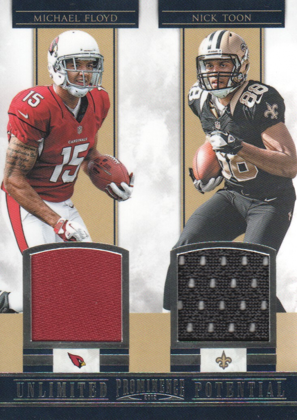 2012 Panini Prominence Unlimited Potential Materials Combos #15 Michael Floyd/Nick Toon