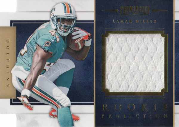 2012 Panini Prominence Rookie Projection Materials #13 Lamar Miller